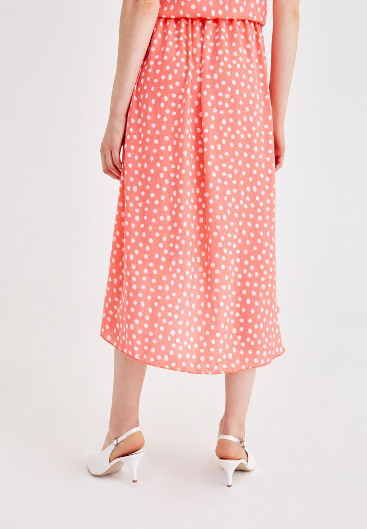 Women Mixed Skirt with Spot Pattern
