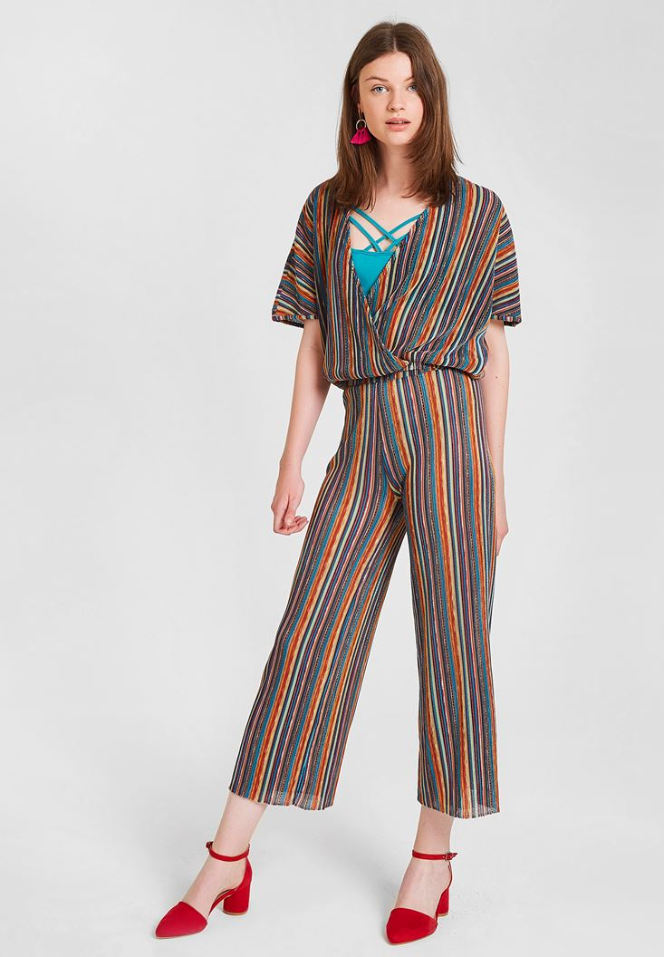 Mixed Pants with Stripe Pattern