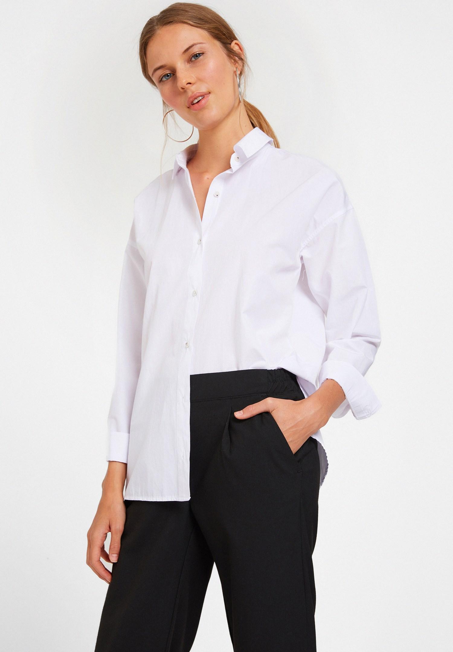 Women White Structured Shirt