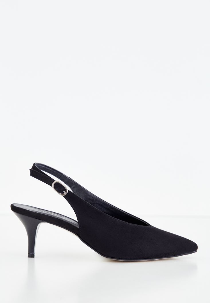 Black Medium Heel Shoes