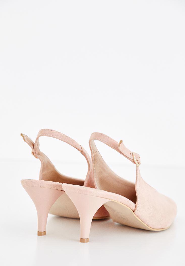 Bayan Pembe İnce Topuklu Sivri Burun Ayakkabı