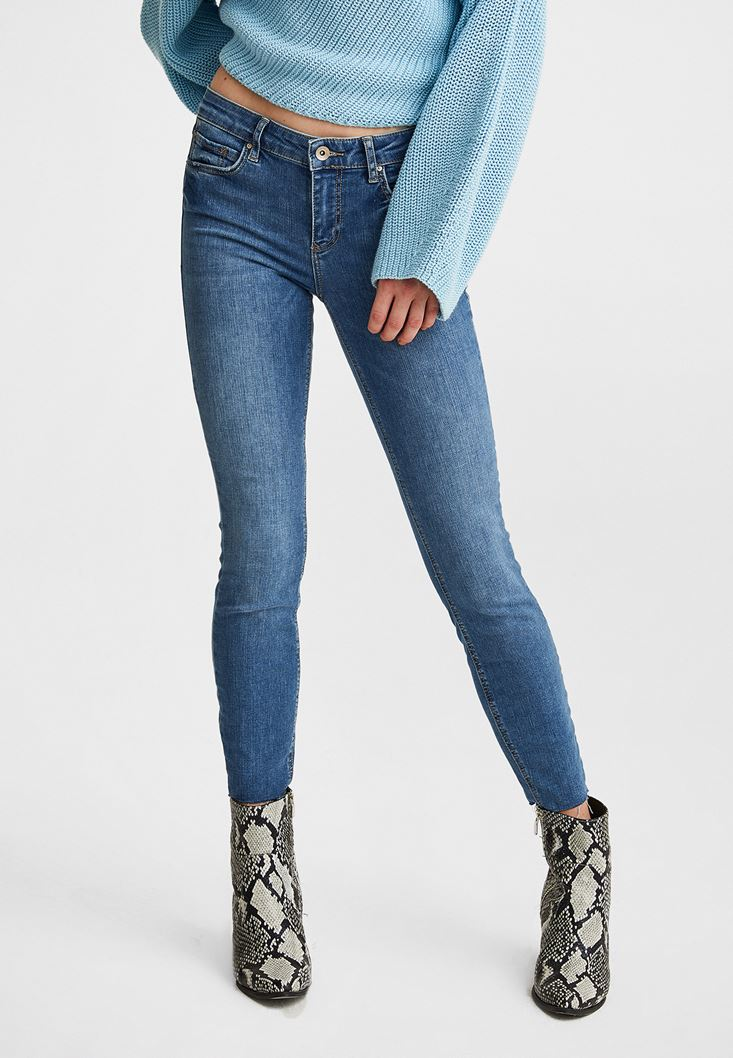 Skinny Low Rise Denim