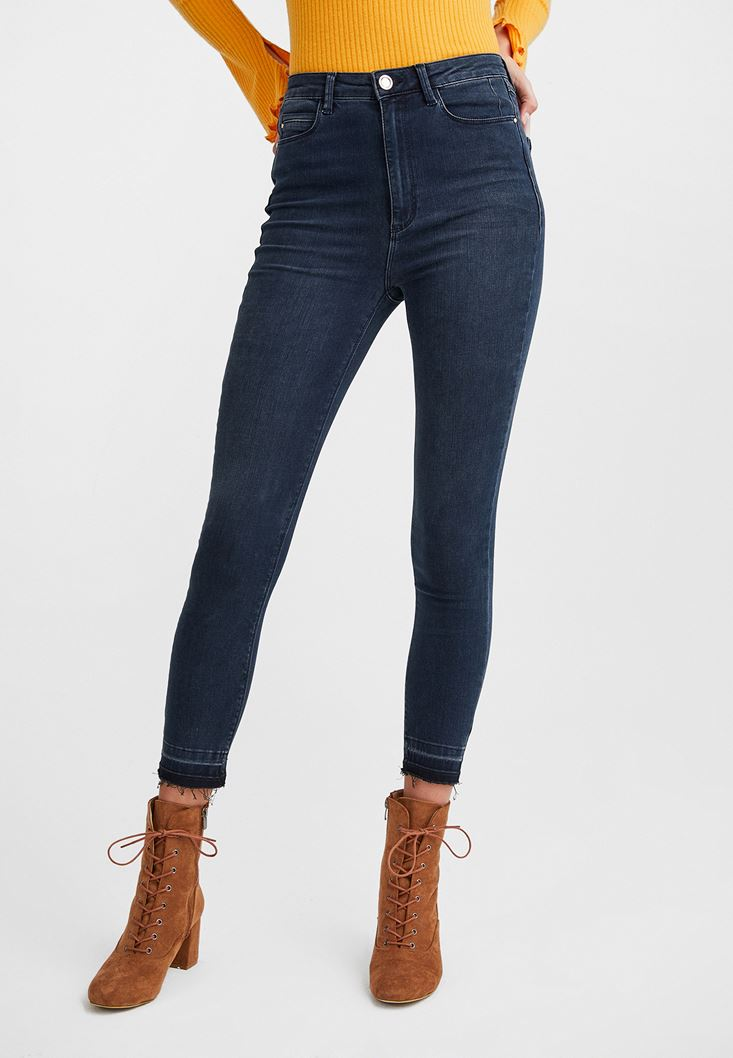 Blue Ultra High Rise Skinny Pants