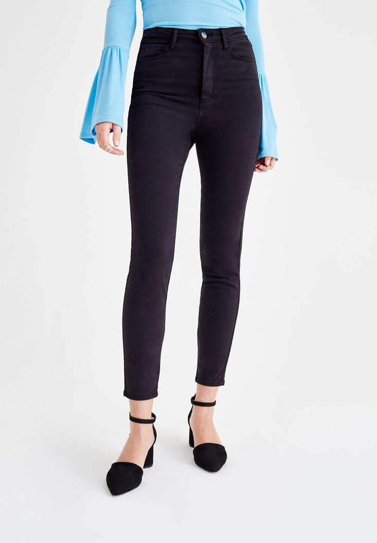Black Skinny Pants with Ultra High Rise