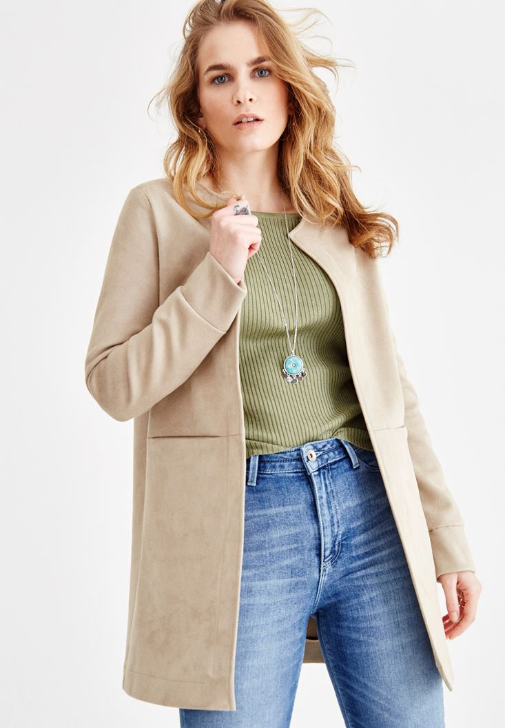 Brown Jacket with Pocket Details