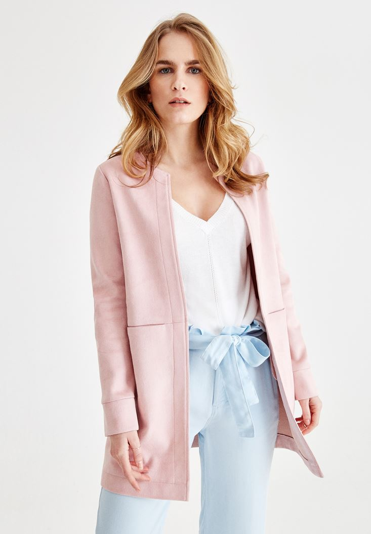 Pink Jacket with Pocket Details
