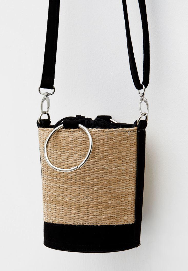 Smocked Straw Bag