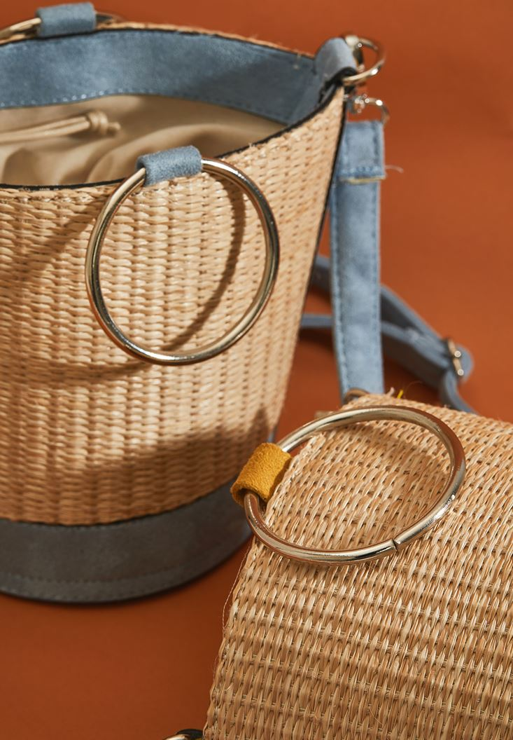 Smocked Straw Bag