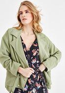 Bayan Yeşil Oversize Ceket