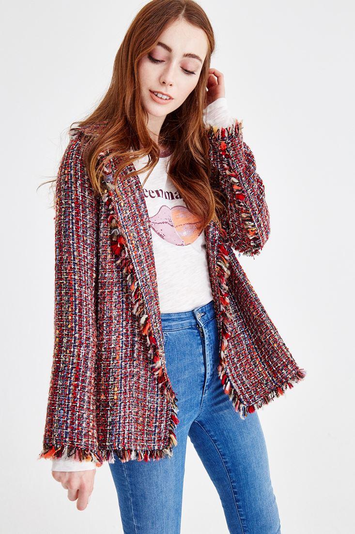 Çok Renkli Tüvid Ceket