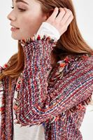 Bayan Çok Renkli Tüvid Ceket