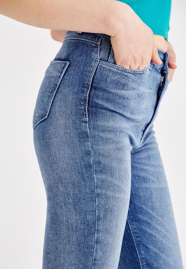 Women Blue Ultra High Rise Straight Cut Jeans