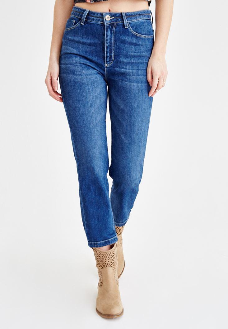 Ultra Yüksek Bel Boru Paça Pantolon