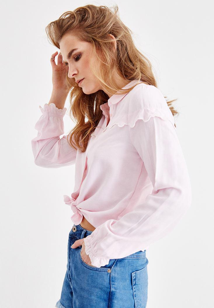 Women Pink Shirt with Details