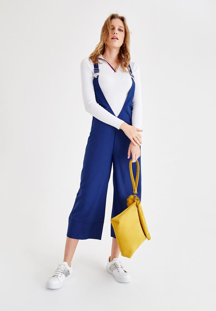 Navy  Jumpsuit with Back Detail