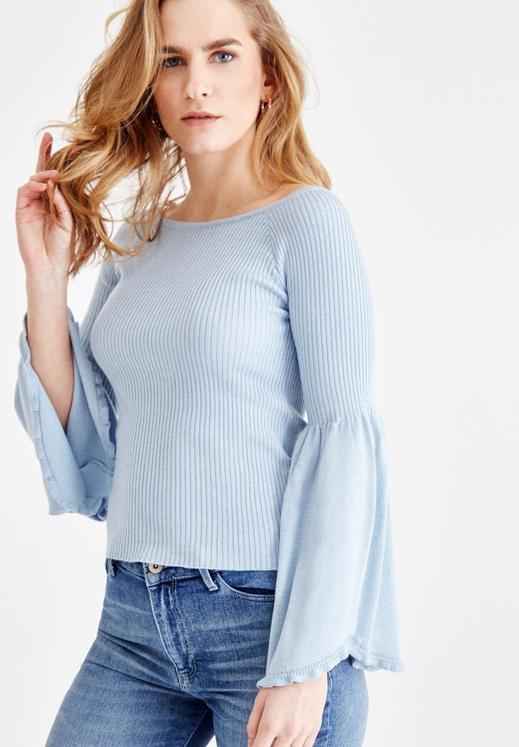 Knitted Pullover with Arm Detail