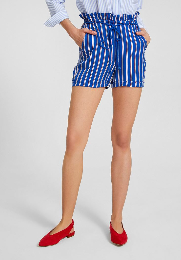 Short with Stripe Details