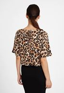 Women Mixed Leopard Patterned Blouse