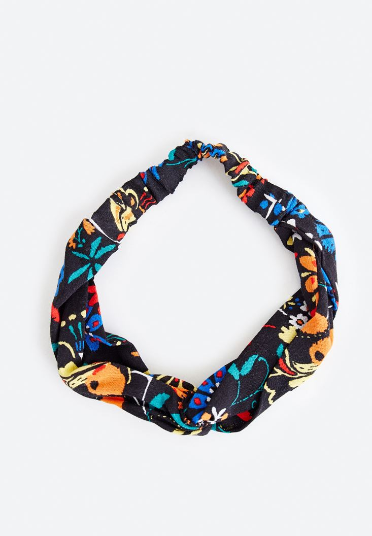 Mixed Flower Patterned Hairband