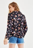Women Mixed Flower Patterned Shirt