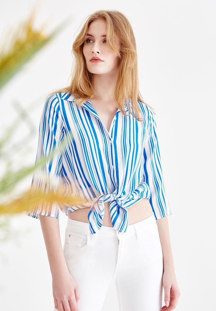 Mixed Half Sleeve Patterned Shirt