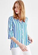 Women Mixed Half Sleeve Patterned Shirt