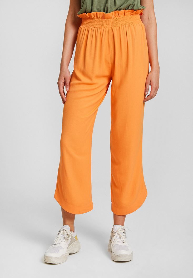 Orange Pants with Belt Details