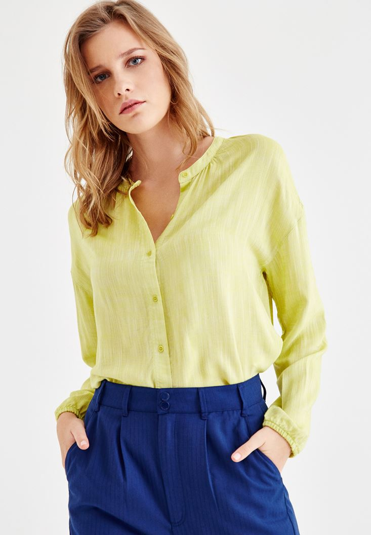 Green Shirt with Arm and Button