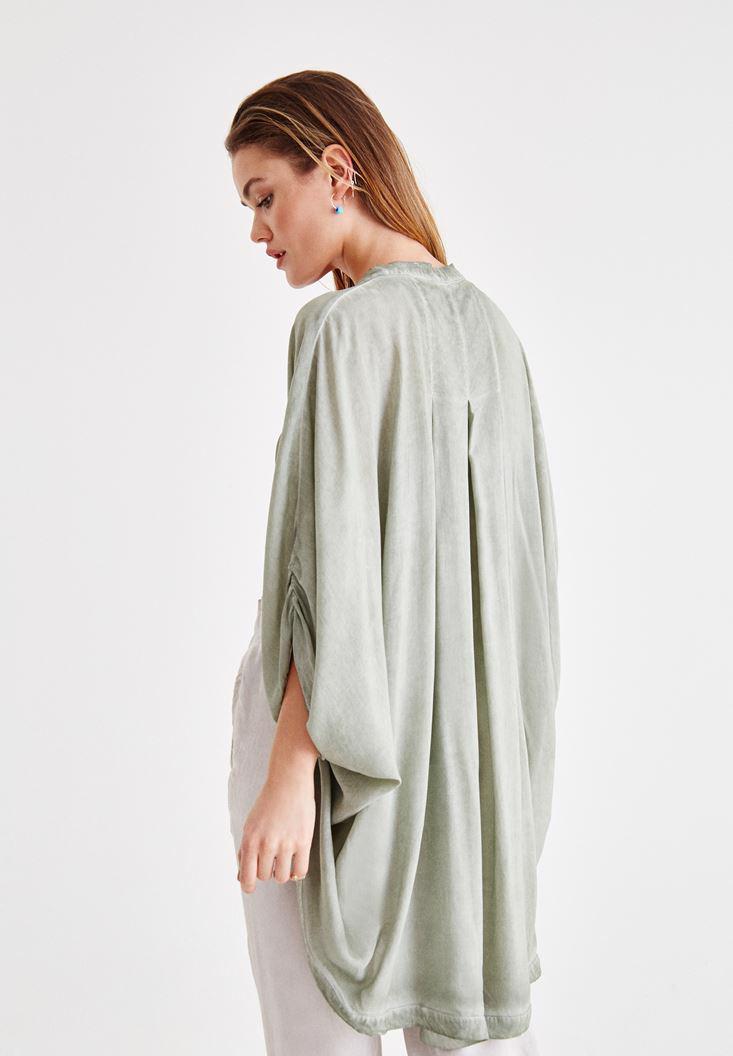 Women Green Kimono with Back Details