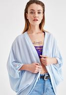 Women Blue Kimono with Back Details