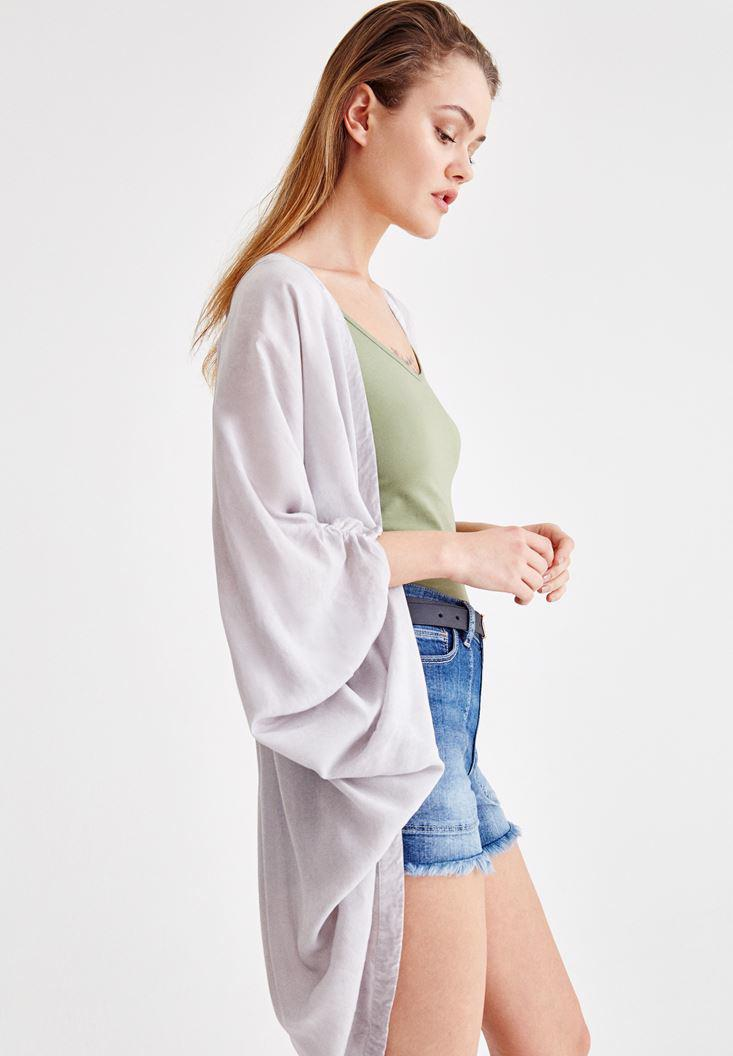 Women Grey Kimono with Back Details