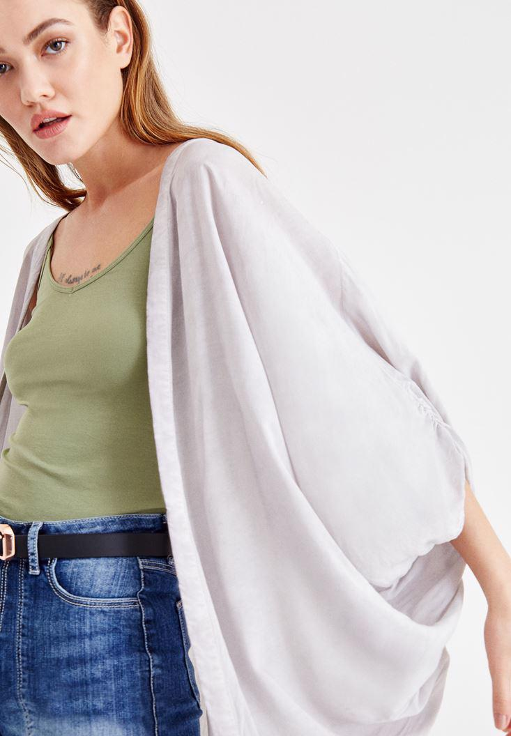 Women Grey Kimono with Back Details