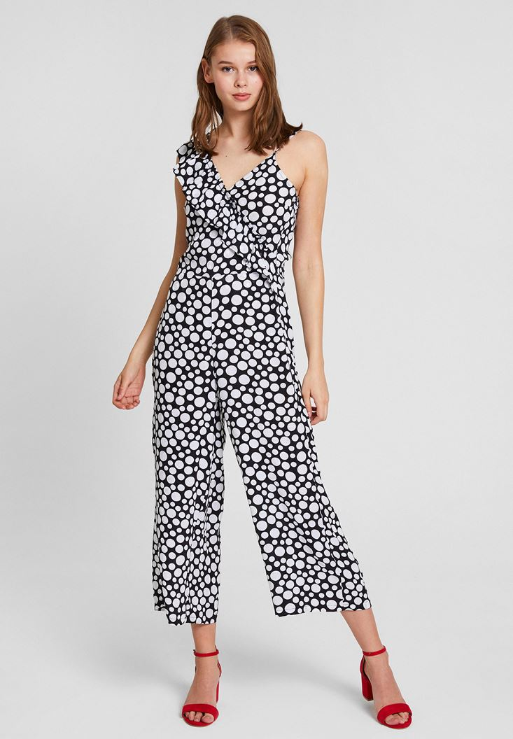 Black Crossover Jumpsuit