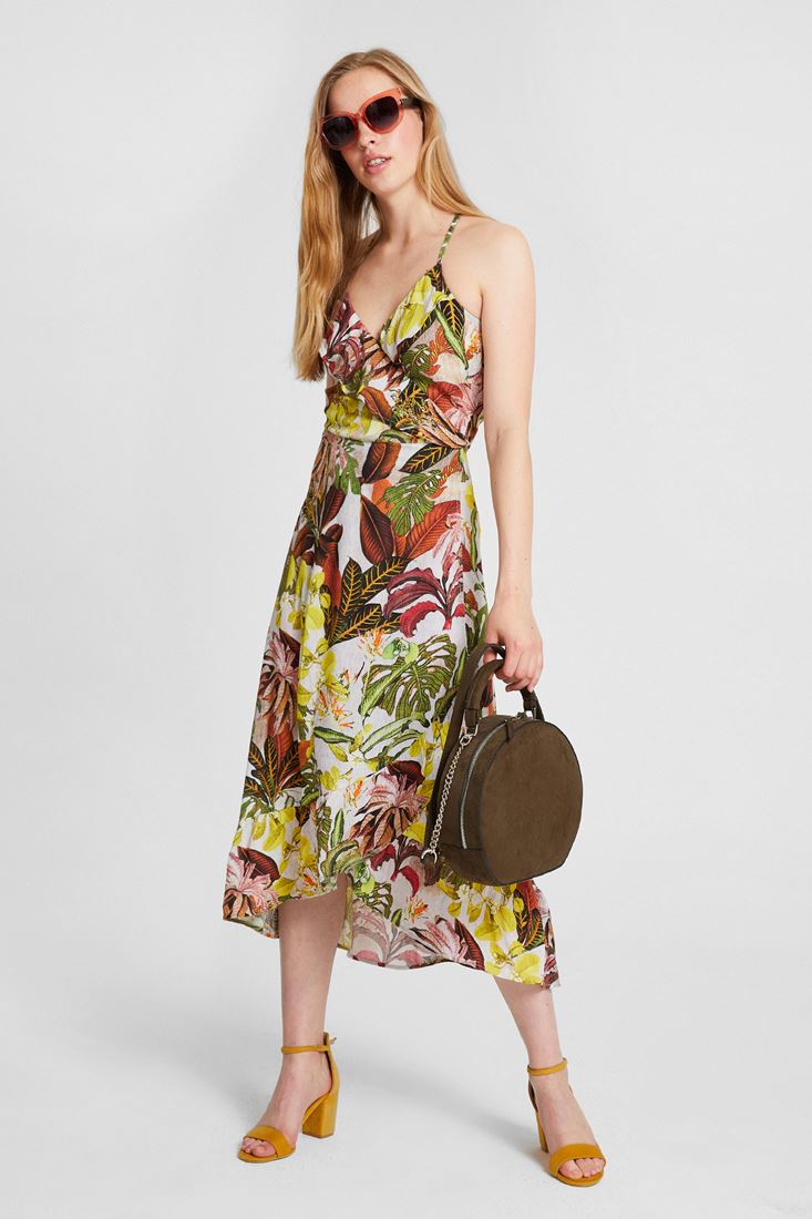 Mixed Flower Patterned Dress