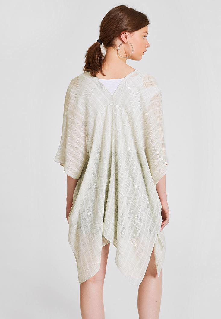 Women Green Kimono with Slash