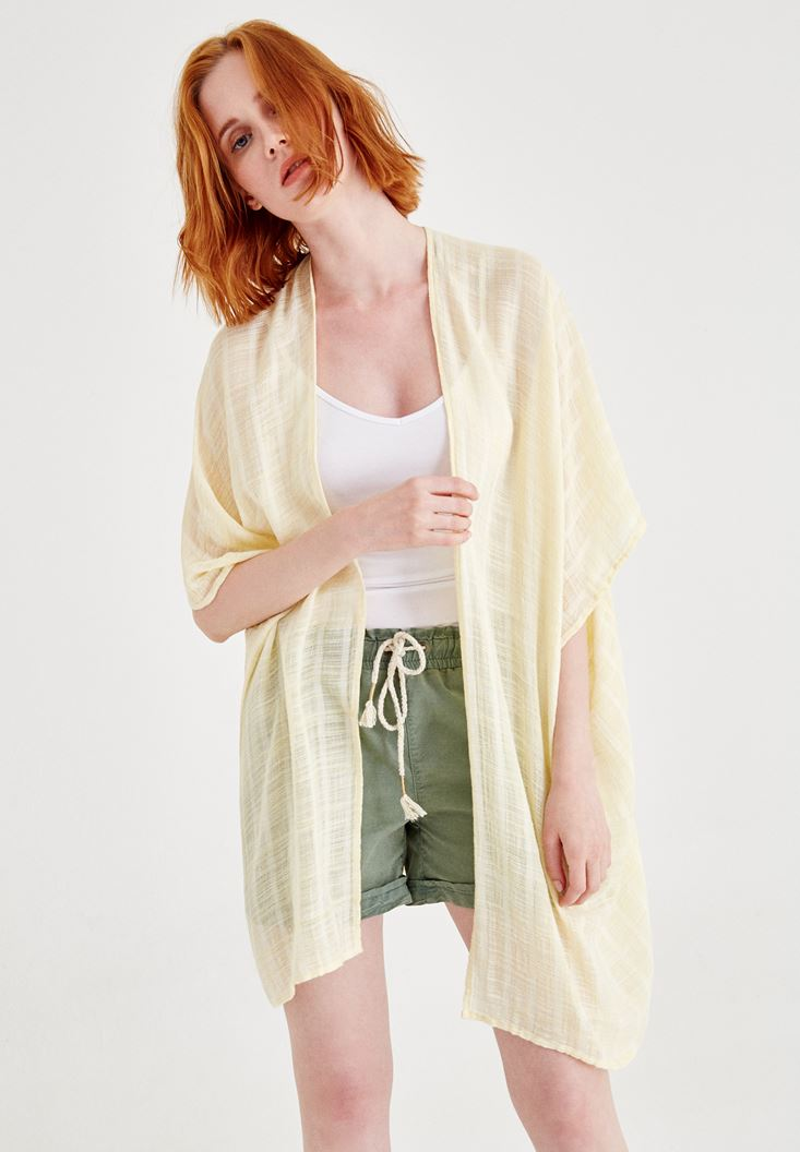 Sarı Yırtmaçlı Kimono