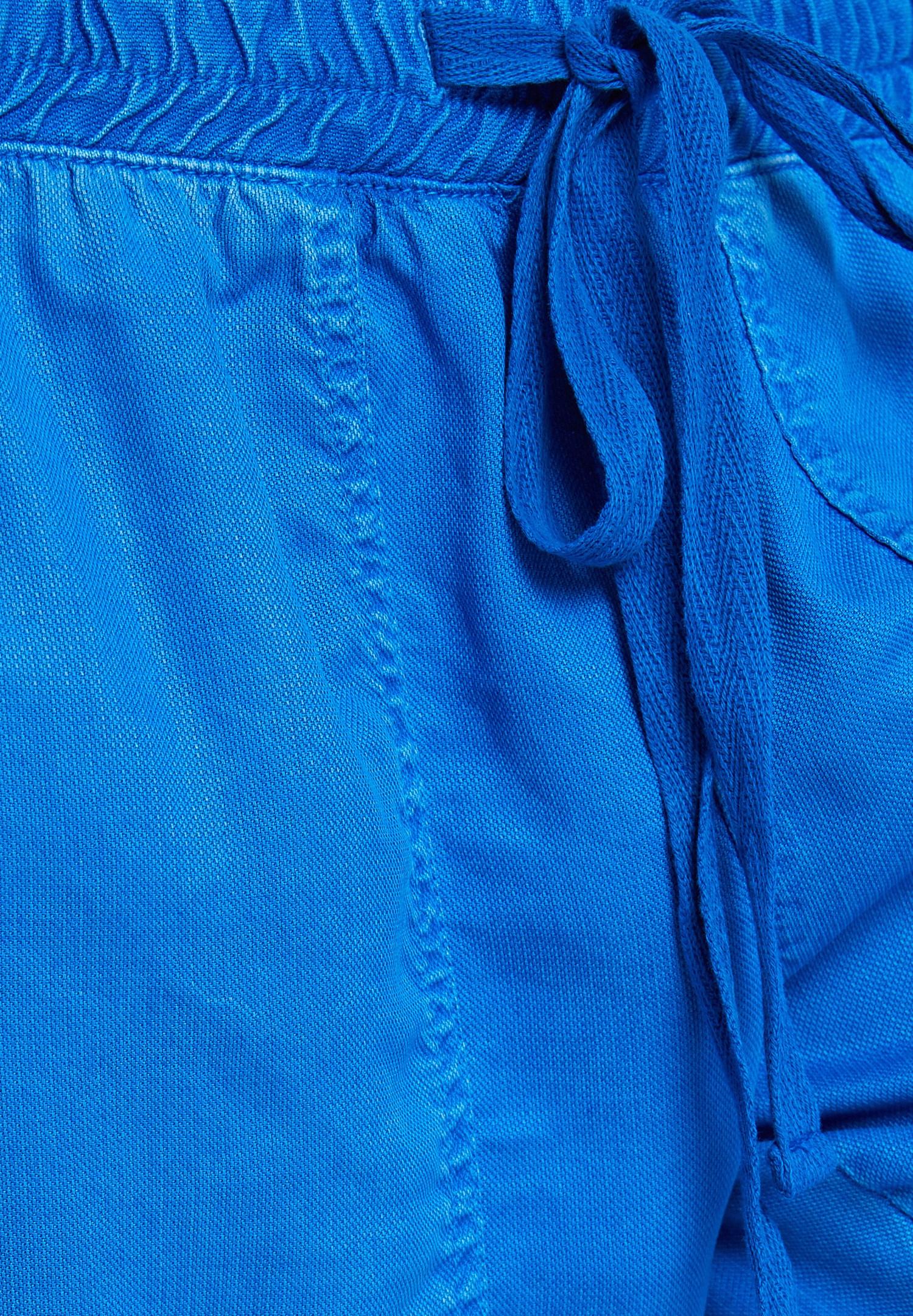 Bayan Mavi Beli Lastik Detaylı Jogger
