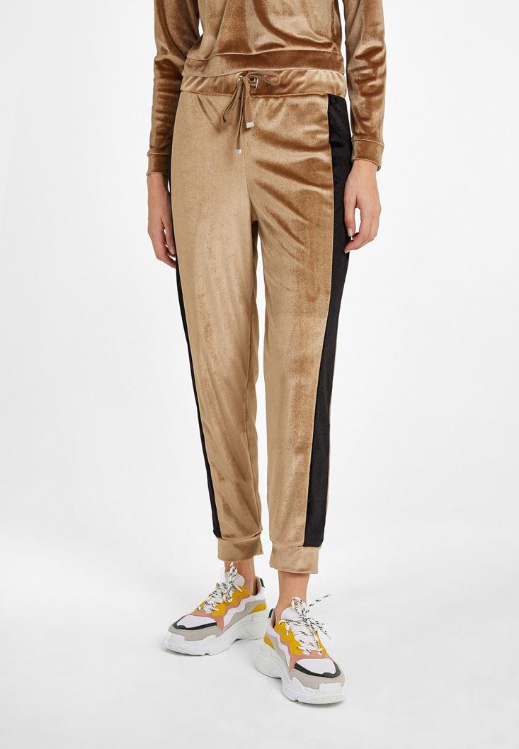 Altın Yumuşak Tuşeli  Jogger Pantolon