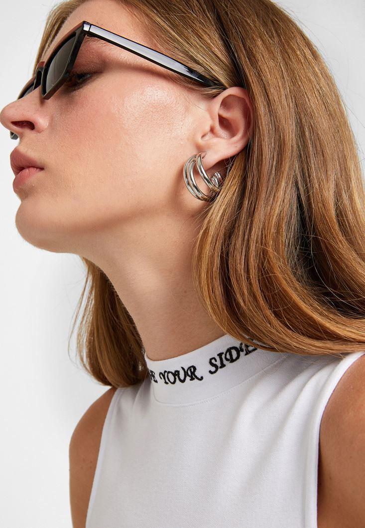 Grey Triple Earrings