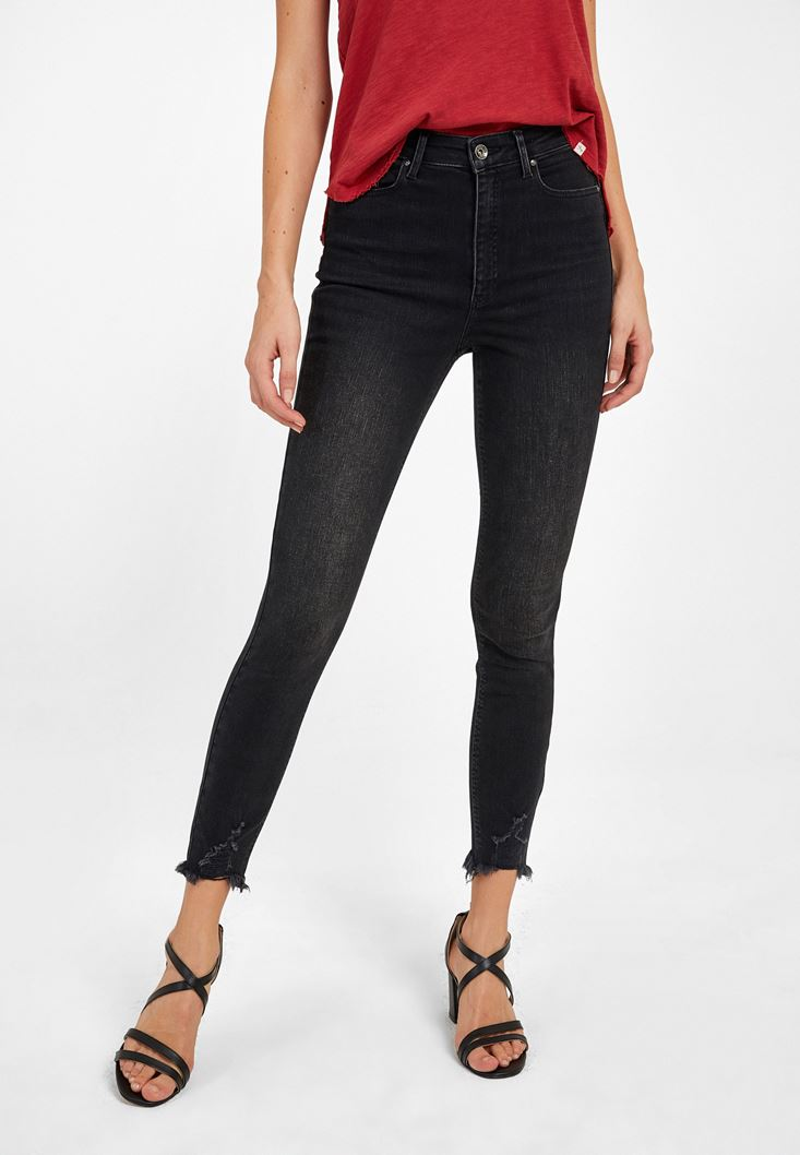 Siyah Ultra Yüksek Bel Pantolon