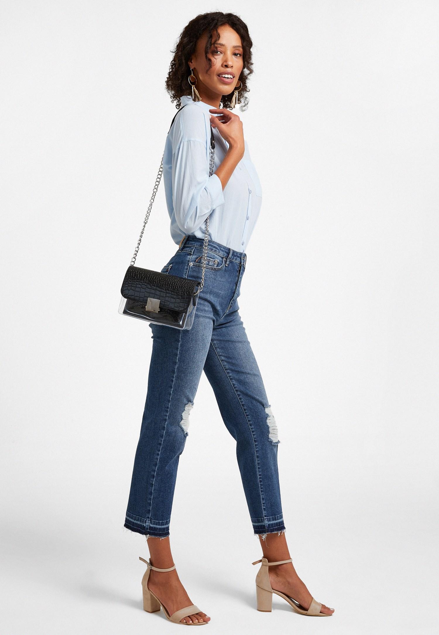 Bayan Siyah Toka Detaylı Askılı Çanta