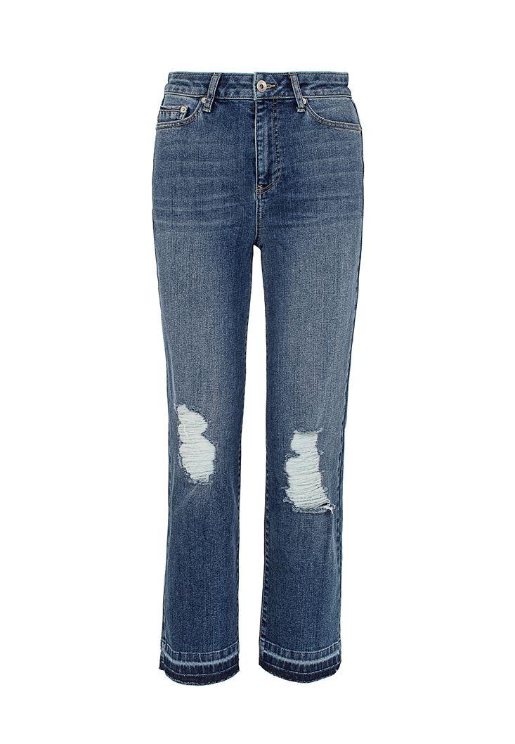 Yüksek Bel Crop Straight Pantolon