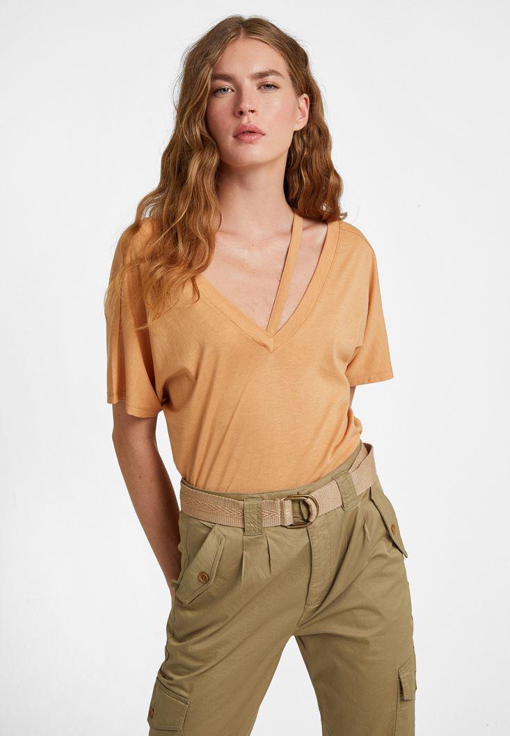 Cream Cut-Out T-Shirt