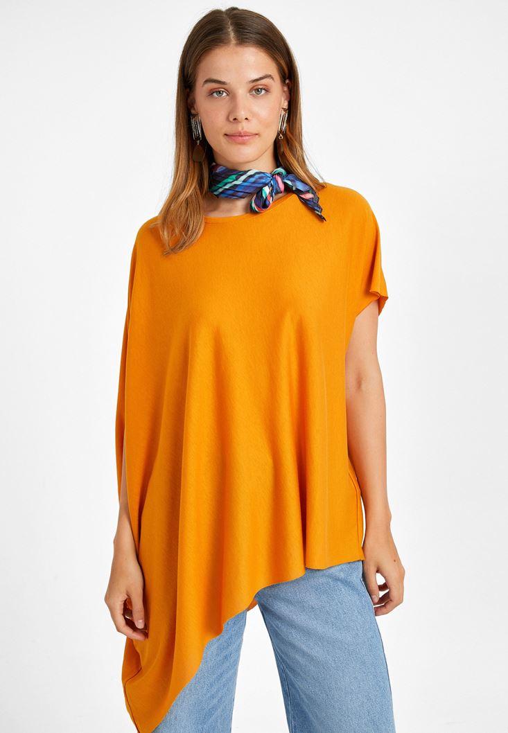 Orange Asymetric T-Shirt