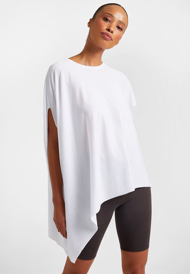 White Asymetric T-Shirt