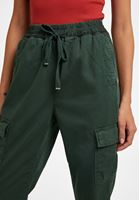 Bayan Yeşil Cep Detaylı Kargo Pantolon