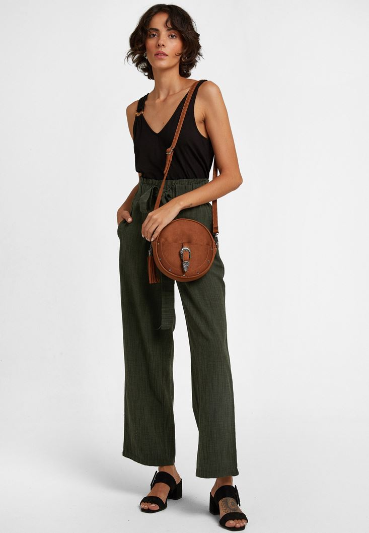 Green Belted Culotte