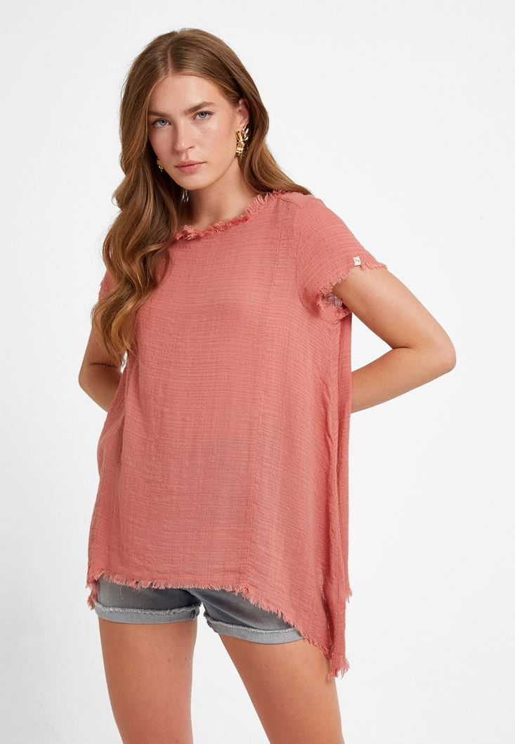 Pink Oversize Blouse