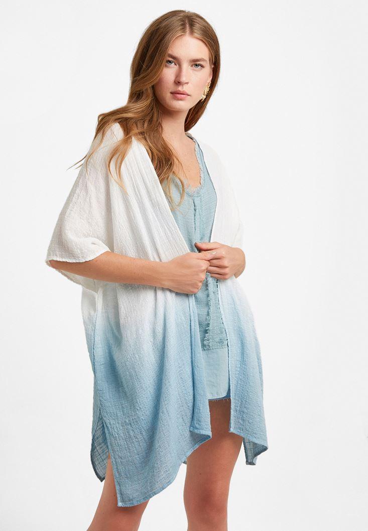 Mixed Cotton-Blended Kimono