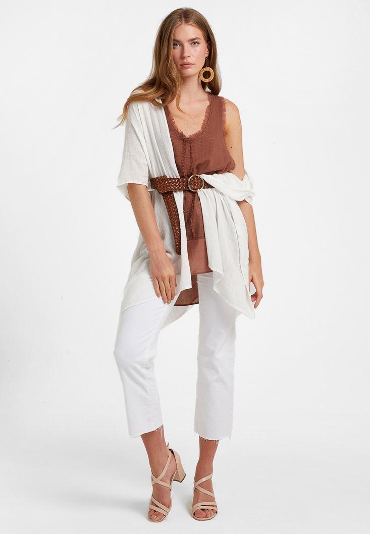 Cotton-Blended Kimono